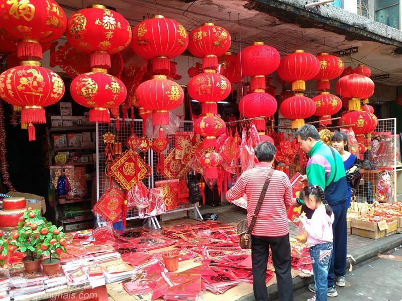 琼海:春节前夕满街红红火火,你见过吗?