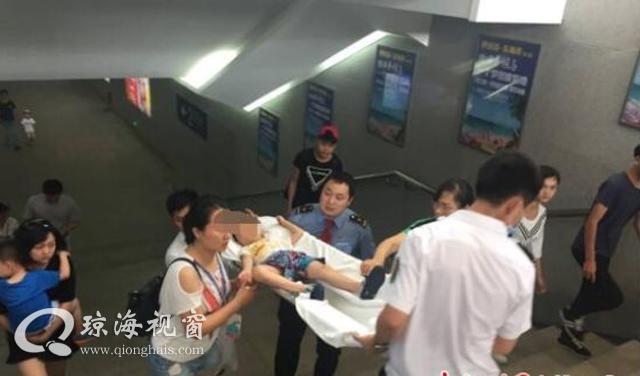 环岛高铁琼海站客运人员热心救助昏迷小孩受称赞