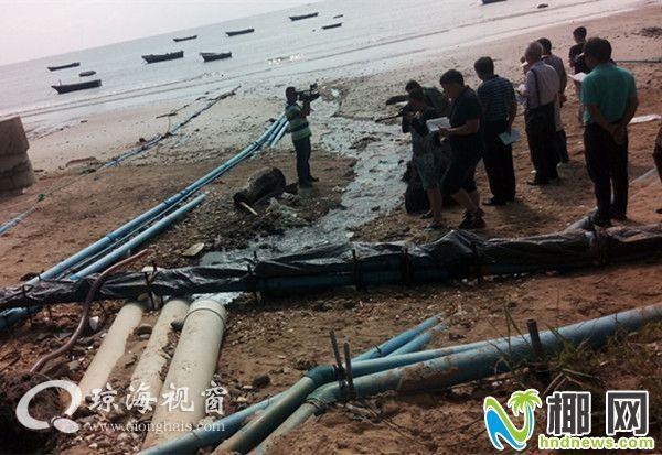 不妥!琼海文昌不少海防林鱼虾塘废水直接排沙滩