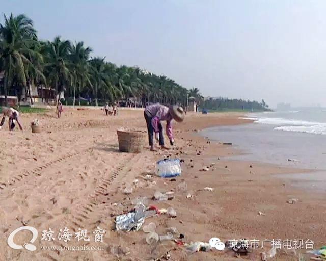 中秋过后,博鳌海滩垃圾遍地,6吨垃圾影响游客心情