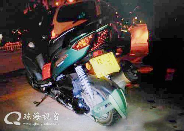 琼海:男子骑摩托车连撞两人逃逸 在家养伤时被擒(图)