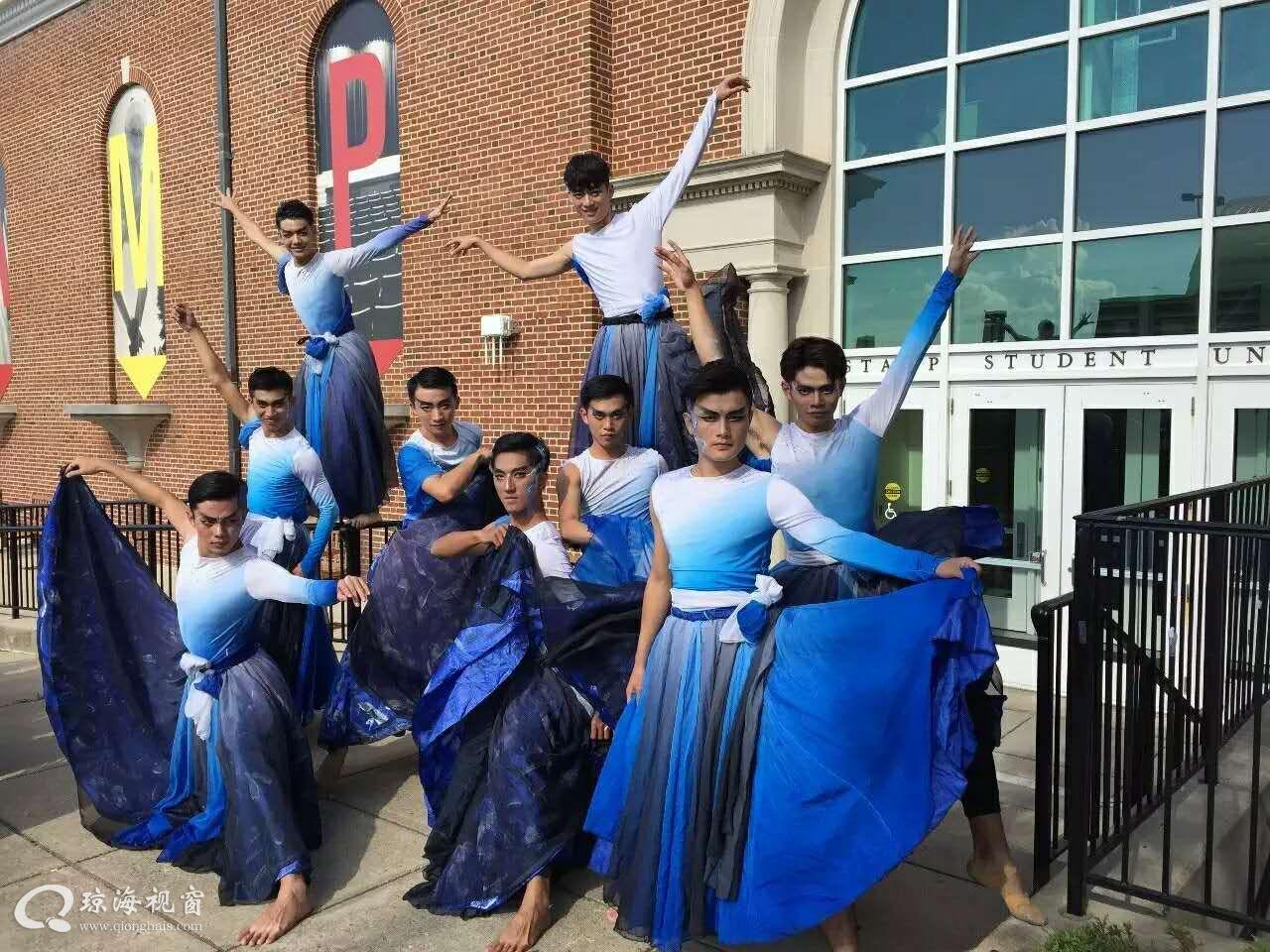 琼海嘉积中学男子舞团舞进联合国总部 水墨天书绽放世界舞台