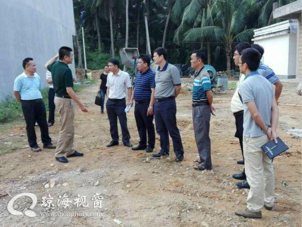 程江洪副市长到长坡镇督导精准扶贫工作