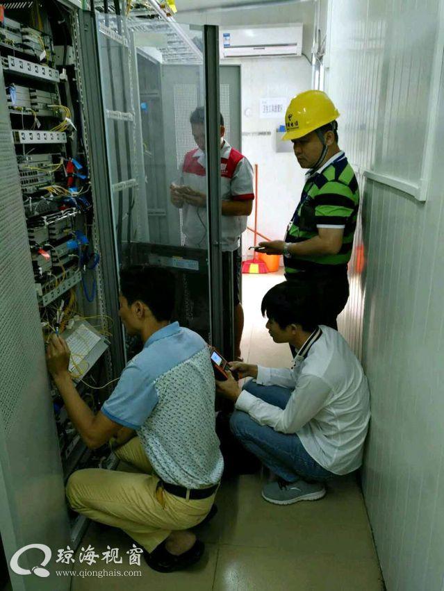 迅速行动抢修,中国电信琼海分公司保灾后重要部门通信畅通
