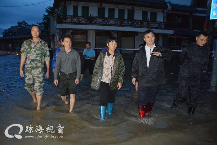 何琼妹到万泉镇检查指导防汛工作 确保安全度汛和人民群众生命财产安全