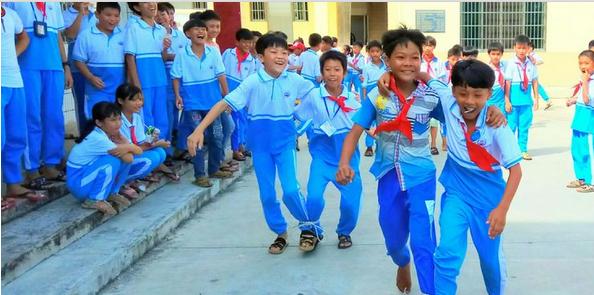 幸福校园 快乐童年,琼海 潭门镇中心学校每位孩子都笑了