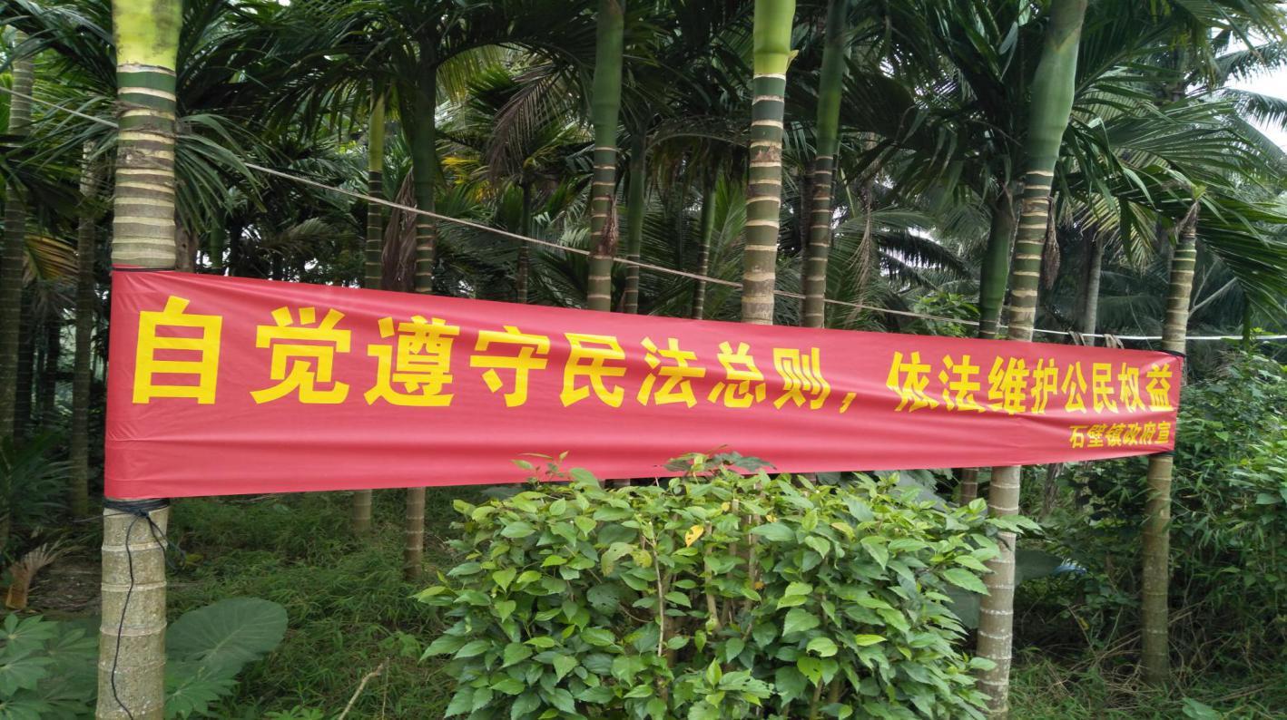 """石壁镇组织开展""""12.4""""国家宪法日及《民法总则》法治宣传月活动"""