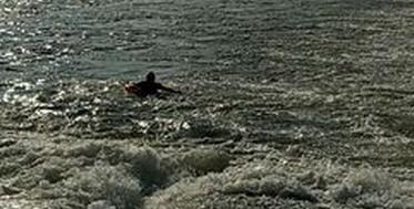 琼海一男子万泉河游泳被冲下大坝