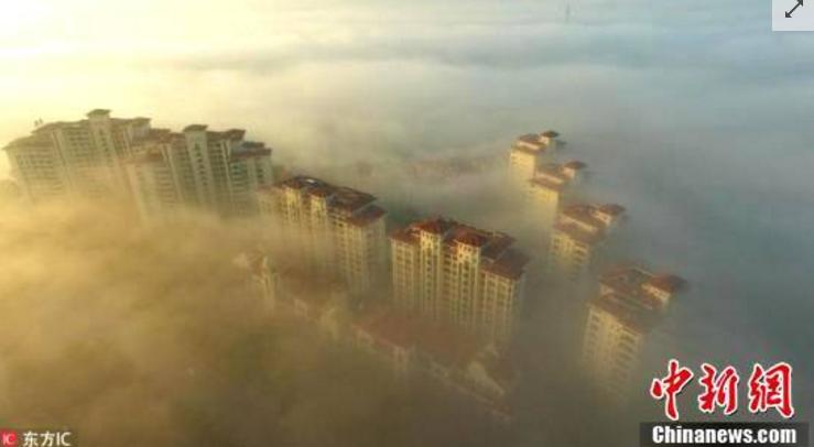 琼海大雾报春到 城镇乡村宛若人间仙境