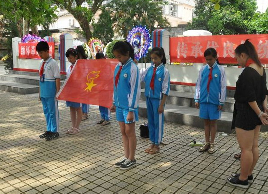嘉积镇中心学校清明节祭英烈活动掠影