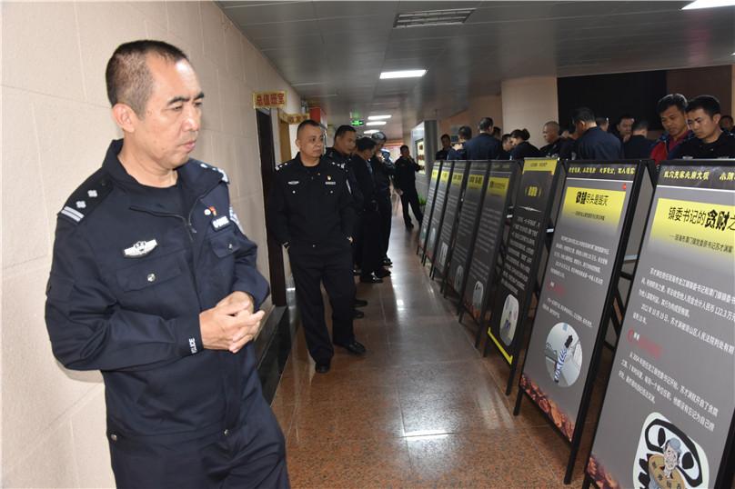 琼海市公安局组织参观警示教育图片展