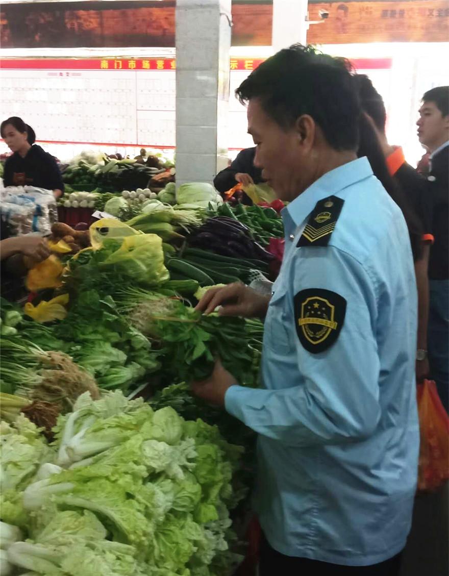 南门食药监所积极开展食用农产品市场销售质量安全监管专项整治工作
