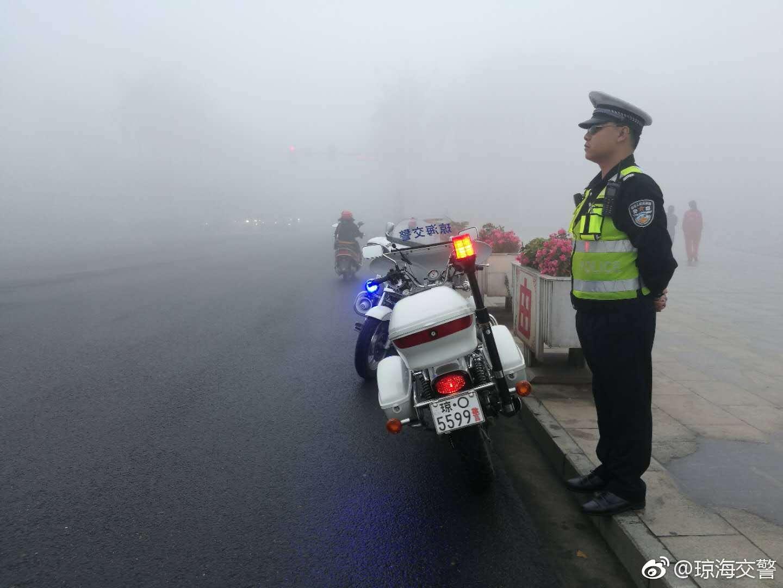 琼海公安交警:大雾天气交通安全提示