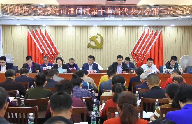 中国共产党琼海市潭门镇第十四届代表 大会第三次会议顺利召开