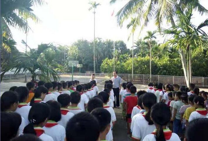 嘉积镇中心学校19所小学迎开学季,上好开学第一课
