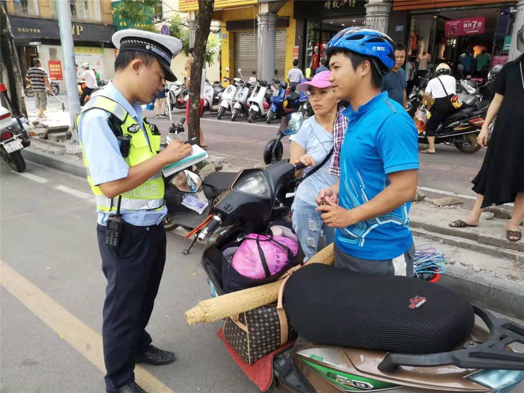 琼海公安交警深入开展摩托车电动车交通违法整治行动
