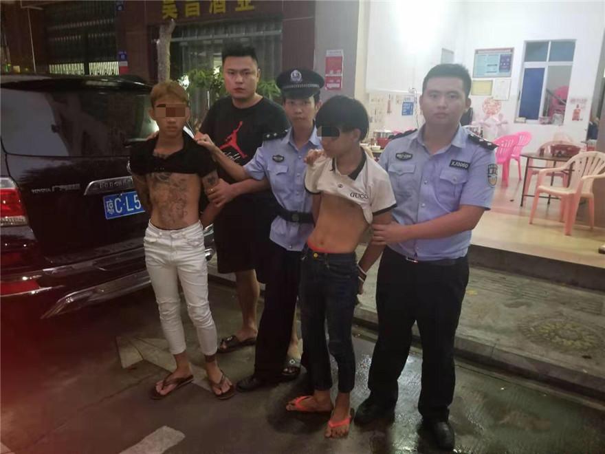 两男子半夜作案连盗4家店铺 琼海警方神速破案不到10小时抓获嫌犯