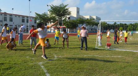 潭门镇中心学校举行2019年秋季学生运动会