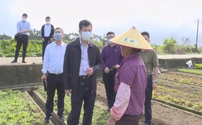 """符平调研常年蔬菜基地建设情况 全力做好疫情防控期间""""菜篮子""""保供稳价工作"""