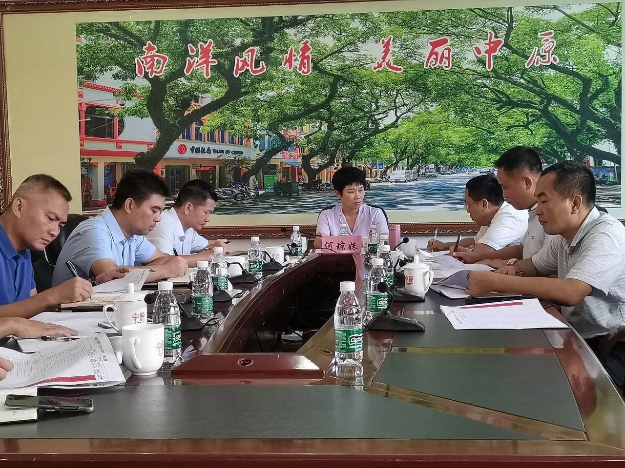 市委书记何琼妹到中原镇召开征地工作会议