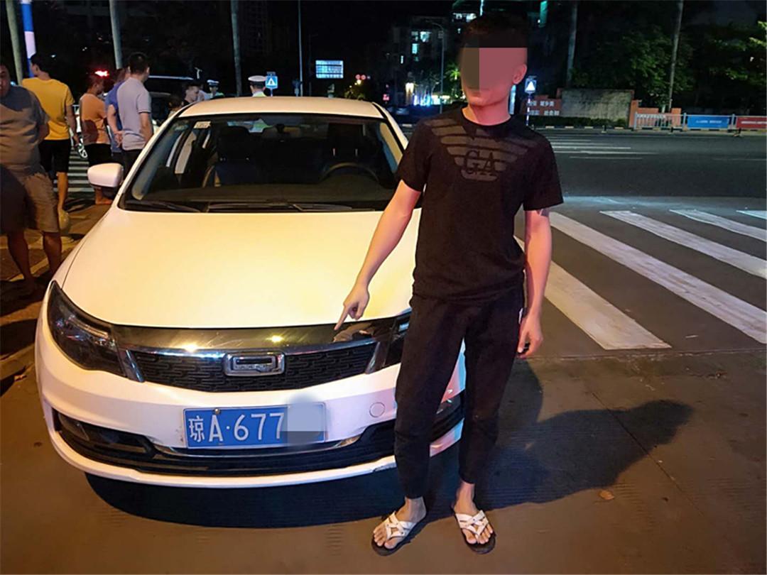 琼海一男子无证驾驶共享汽车被依法拘留