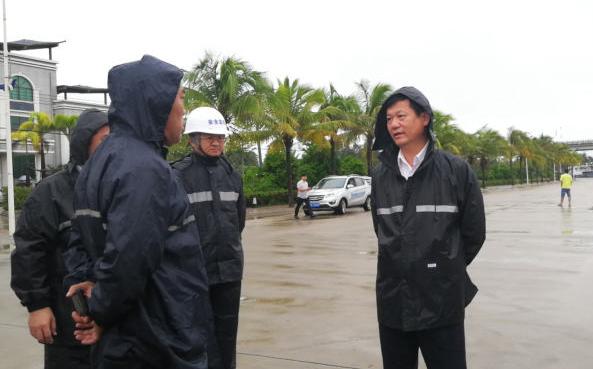 符平检查防风防汛工作 把人民群众生命财产安全放在第一位