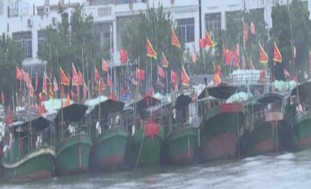 """""""沙德尔""""逼近 琼海645艘渔船全部回港避风"""