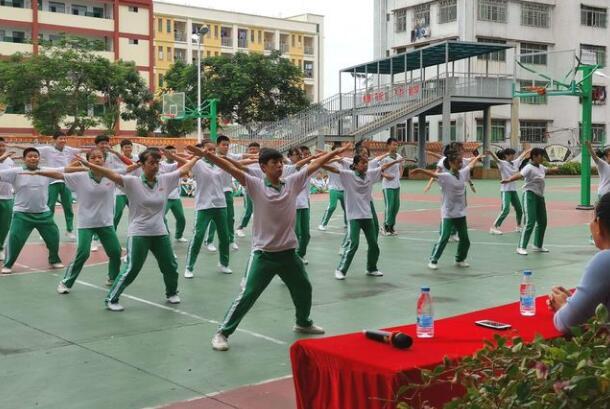 嘉积中学分校举办2020初一年级广播体操比赛