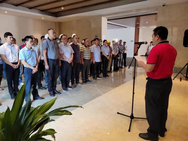 琼海市市场监管局组织开展博鳌亚洲论坛2021年年会电梯应急演练现场观摩会